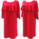 Großhandel Kleider: D4075 Kleid, Made In Poland, 48-54, Koralle