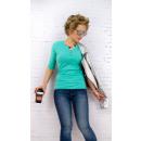 Großhandel Shirts & Tops: D2674 Classic Bluse, Basic Top, V-Ausschnitt