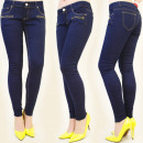 wholesale Jeanswear: B16408 PANTS  JEANS, TUBE, NAVY, GOLDEN SLIDERS