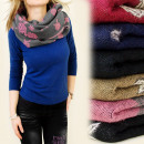 wholesale Scarves & Shawls: DOUBLE-SIDED CHIMNEY, WOOL - VISCOSE, BLUSHERS, ...