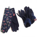wholesale Gloves: Wool Women's Gloves, Navy, S-XL, 5818