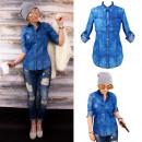 groothandel Kleding & Fashion: BI660 Dames-jeanshemd, losse straatstijl