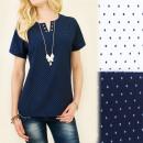 Großhandel Hemden & Blusen: C11233 BESUCH  BLUSE, HEMD, DRUCK: DOTS