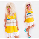 D1454 Candy summer dress, with straps, Juicy Color