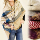 FL275 BIG warmer Schal, PLED, Fischgrätmuster