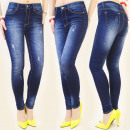 B16393 PANTS JEANS, with scratching, HIGH STATE