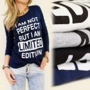 K166 TOP blouse,  met lange mouwen, IK BEN NIET PER