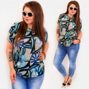 wholesale Shirts & Blouses: C11535 Loose Blouse Plus Size, Retro Flowers