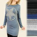 Großhandel Hemden & Blusen: C1118 lange  Tunika, Bluse, GOLDEN STAR