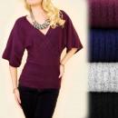Großhandel Pullover & Sweatshirts: A1979 Loose Kimono Sweater, ,Umschlagausschnitt ...