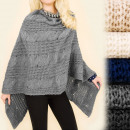G237 warmer Herbst Poncho, breites Outfit, lose Li