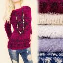 grossiste Vetement et accessoires: C11362 chaud, pull  à la mode, tricot poilu