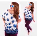 Großhandel Hemden & Blusen: 4518 Lovely Plus Size Bluse, Muster: Löwenzahn
