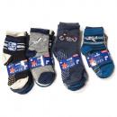 Großhandel Kinder- und Babybekleidung: Jungen ABS Socken, Baumwolle, Planes 17-30, 5726