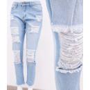 B16761 Women Jeans, Trendy Holes & jerking