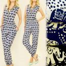 Großhandel Hosen: C17111 Modisch, Sommeroverall, Glückliche Elefante