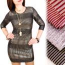 4213 Made in  Italy, glitzerndes Kleid, glänzend
