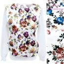 Cotton Women Sweatshirt, S-XL, Flowers R154