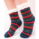 groothandel Kleding & Fashion: 4372 Bont Sokken, ABS-sloffen, Sneeuwvlokken