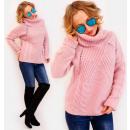 Großhandel Pullover & Sweatshirts: PL35 Warmer ,Rollkragenpullover Geflochtene Zöpfe,