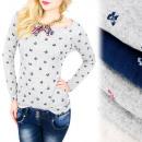 Großhandel Hemden & Blusen: C11442 Schöne Bluse mit weitem Halsausschnitt, Sch