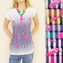 wholesale Shirts & Blouses: G166 slimming  BLOUSE, TOP STRIPED HERON