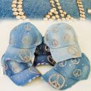 wholesale Headgear: FL207 FASHION CAP,  BASECAP JEANS, PEACE SYMBOLS