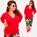 Großhandel Hemden & Blusen: 4593 Sommer Tunika, Bluse, Plus Size, ...