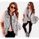wholesale Coats & Jackets: EM41 Fur Vest Winter Poncho Jacket, Mix