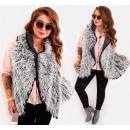 EM41 Fur Vest Winter Poncho Jacket, Mix