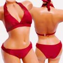 Großhandel Bademoden: 4628 Frauen Badeanzug, Burgund, Boho