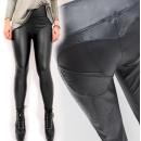 Großhandel Hosen: Hose, schwarzer Latex, Push - Up - Effekt SL, 527