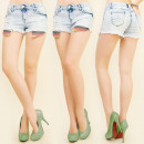 Großhandel Shorts: B16499 Damen Shorts, Jeans, LOCH