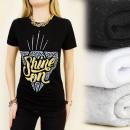 groothandel Kleding & Fashion: K313 katoenen  blouse, TOP DIAMOND SHINE ON