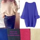 wholesale Pullover & Sweatshirts: Women's Oversized Sweater, Loose Sleeve, Kimon
