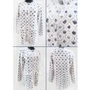 K49 lange cardigan voor vrouwen, geometrisch patro