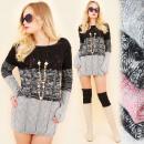 G238 Lange stijlvolle trui, warme tuniek, ...