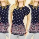 K366 blusa del  algodón, TOP, MODELO arabescos
