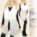 wholesale Coats & Jackets: C17244 Beautiful Vest, Ombre Fur, Warm Waistcoat