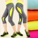FL195 Leggins 3/4  , trousers FITNESS, Neon MIX