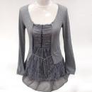 Großhandel Pullover & Sweatshirts: Frauen Kaschmirpullover mit Spitze S-XL, ...