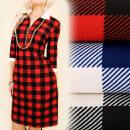 Großhandel Kleider: BI574 Retro Kleid, Tunika, Kragen, Golden Slider