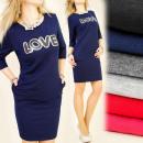 BI207 CLASSIC DRESS, TUNIC, sequins, LOVE