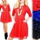Großhandel Kleider: BI643 Chic, Spitzenkleid, Gold Dekoration