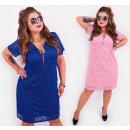 wholesale Fashion & Apparel: BI737 Lace Dress with Slider, Plus Size