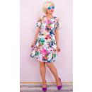 Großhandel Kleider: BI743 Elegantes Kleid, voller Blumen, Reißverschlu