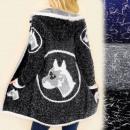 B16565 Suéter Cárdigan, abrigo, perro salvaje