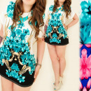 wholesale Shirts & Blouses: C11234 GREAT  TUNIKA, LARGE SIZES, JUICY FLOWERS