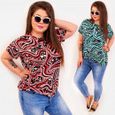groothandel Kleding & Fashion: C11529 Adorable vrouwenblouse Plus grootte-polkado