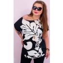 Großhandel Hemden & Blusen: 4524 Elegante Bluse, Übergröße, Paradise Flowers